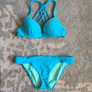 Aerie top & Victoria's Secret bottom bathing suit